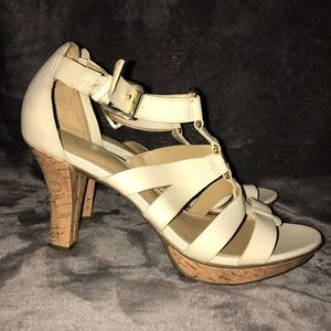 Size 9 off white strappy heels!